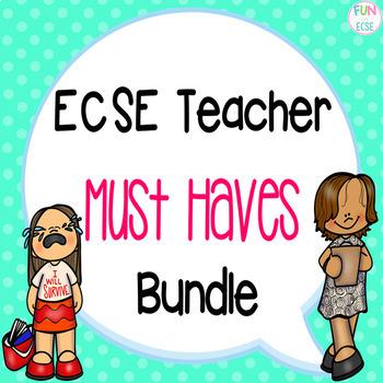 ECSE Teacher Must Haves Bundle