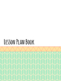 Teacher Binder/Lesson Plan Book, Blank Calendar Tribal Pattern