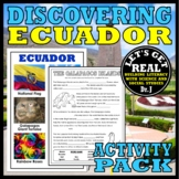 ECUADOR: Discovering Ecuador Activity Pack