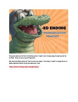 ED Ending Pronunciation Practice APP