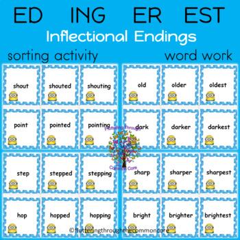 ED ING ER EST  Inflectional Endings 150 Word Cards