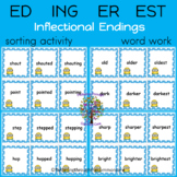 ED ING ER EST  Inflectional Endings 150 Word Cards