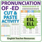 ED Pronunciation - Cut and Paste Activity
