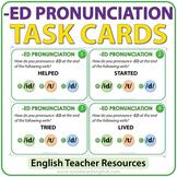 ED Pronunciation - English Task Cards