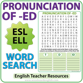 ED Pronunciation - English Word Search