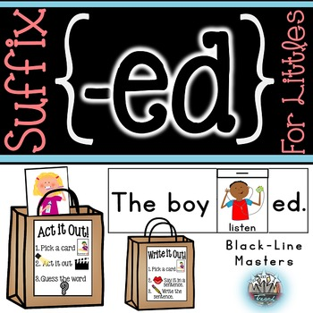 Suffix -ed for Kindergarteners: Past Tense Verbs