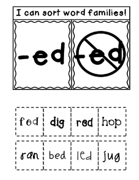 ED Word Family Interactive Notebook
