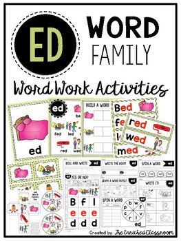 ED Word Family Word Work Activities