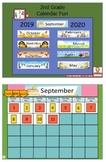 Calendar Fun 2nd Grade Flipchart Full Year 2016-2017