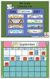 Calendar Fun 4th Grade Flipchart Full Year 2016-2017