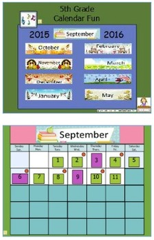 Calendar Fun 5th Grade Flipchart Full Year 2015-2016