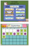 Calendar Fun Flipchart 1st Grade Full Year 2016-2017