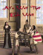 Easy Reading Shakespeare: All's Well That Ends Well (Grade 5 Reading Level) (Enhanced eBook)