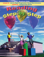 Reading Step by Step Unit 1: Readiness Skills (Lessons 5 and 6)