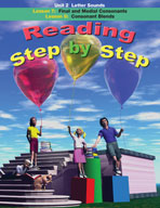 Reading Step by Step Unit 2: Letter Sounds (Lessons 7 and 8)