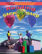 Reading Step by Step Unit 3: Beginning Comprehension (Lessons 11 and 12)