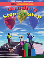 Reading Step by Step Unit 3: Beginning Comprehension (Lessons 7 and 8)