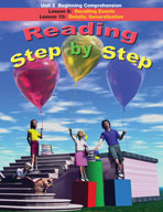 Reading Step by Step Unit 3: Beginning Comprehension (Lessons 9 and 10)