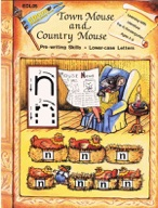 Town Mouse and Country Mouse - Pre-writing, Lower-case Letters