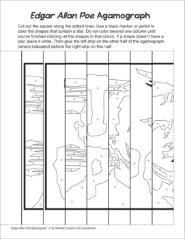 EDGAR ALLAN POE Author Study Activity: Agamograph and Writing Activity