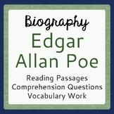 EDGAR ALLAN POE Biography Informational Texts Activities P