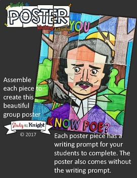 EDGAR ALLAN POE, COLLABORATIVE POSTER, WRITING ACTIVITY, NATIONAL POETRY MONTH