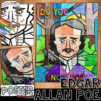 EDGAR ALLAN POE, COLLABORATIVE POSTER, WRITING ACTIVITY, GREAT FOR FALL!