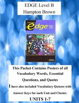 EDGE Level B Hampton Brown Teacher Supplemental Resources Complete Book