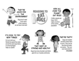 EDIBLE INSECTS EDUCATIONAL POSTER (B&W)