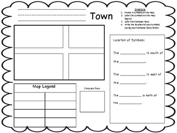 1st Grade Social Studies DIFFERENTIATED Map Worksheets by ...