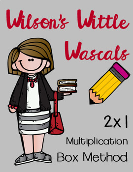 EDITABLE 2 by 1 Multiplication Box Method Practice Sheets