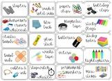 EDITABLE 20 Drawer Teacher Toolbox Labels