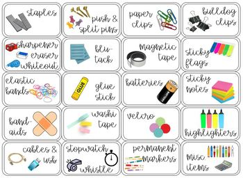 EDITABLE 20 Drawer Teacher Toolbox Labels