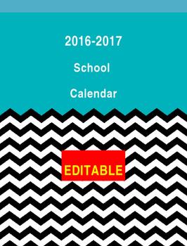 EDITABLE 2016-17 School Calendars