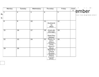 EDITABLE 2014-2015 Clip Chart Calendars