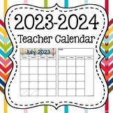EDITABLE 2017-2018 Desk Calendar