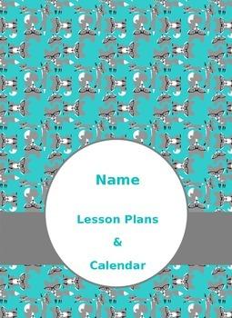 EDITABLE 2015-2016 Fox Themed Teacher Planner