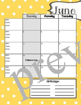 EDITABLE 2017-2018 School Year Calendar