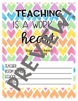 EDITABLE 2018-2019 Rainbow Teacher Planner