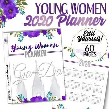 EDITABLE 2020 YW Presidency Planner - Instant Download