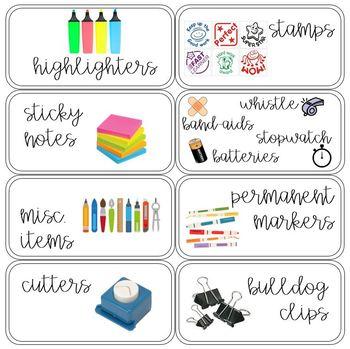 EDITABLE 22 Drawer Teacher Toolbox Labels