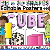EDITABLE 2D AND 3D SHAPES: READING THEME
