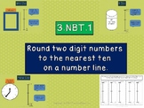 EDITABLE 3.NBT.1 Rounding to the Nearest Ten on a Vertical Number Line