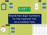 EDITABLE 3.NBT.1 Rounding to the Nearest Ten on a Vertical
