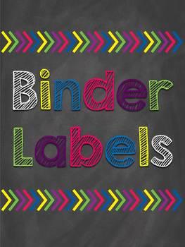 *EDITABLE* Chalk Fancy Binder Labels