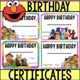 EDITABLE- 4  Certificates- Muppets themed