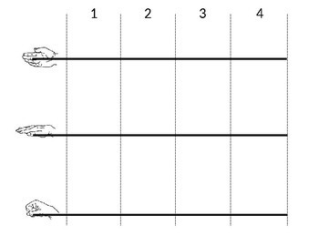 EDITABLE 4 beat measure template