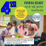 EDITABLE 4th Grade End-of-Year Awards