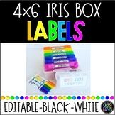 4x6 IRIS Box Labels | IRIS Photo Box Labels | Task Box Lab