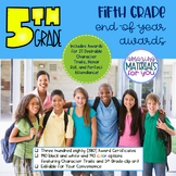 EDITABLE 5th Grade End-of-Year Awards